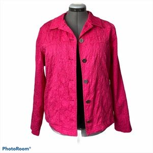 Coral pink jean style jacket